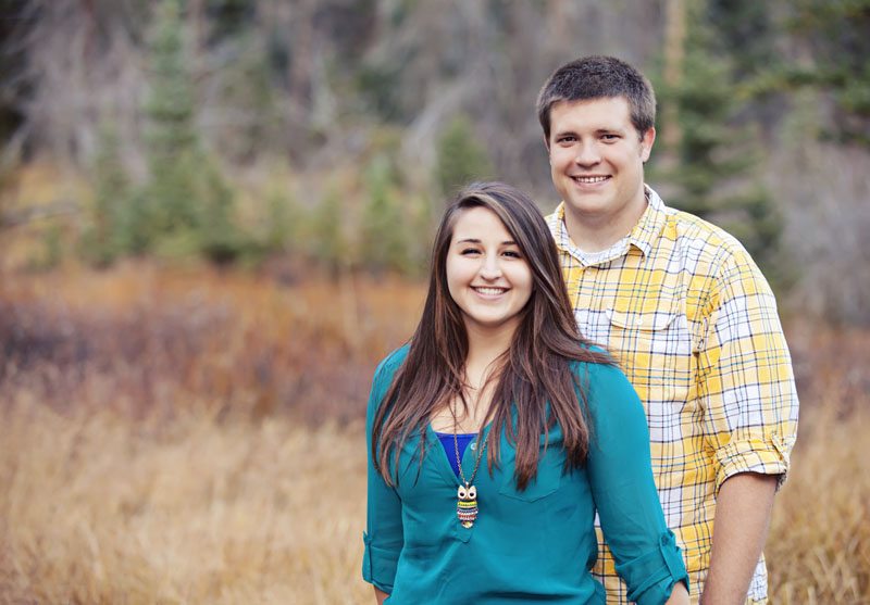 Utah Fall Colors Engagement Picture