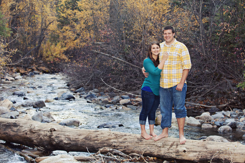 Utah Fall River Engagement Picture