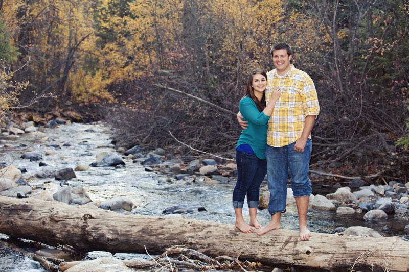 Utah Fall River Engagement Picture