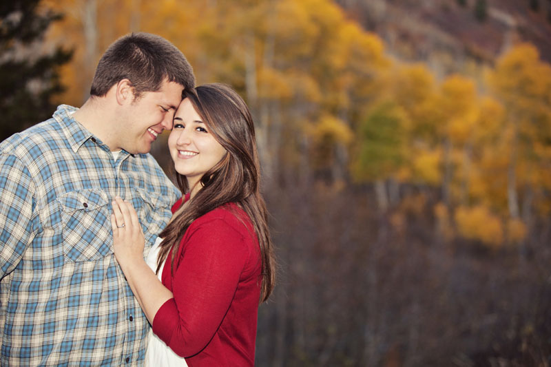 Utah Fall Yellow Trees Alpine Loop Engagement Picture