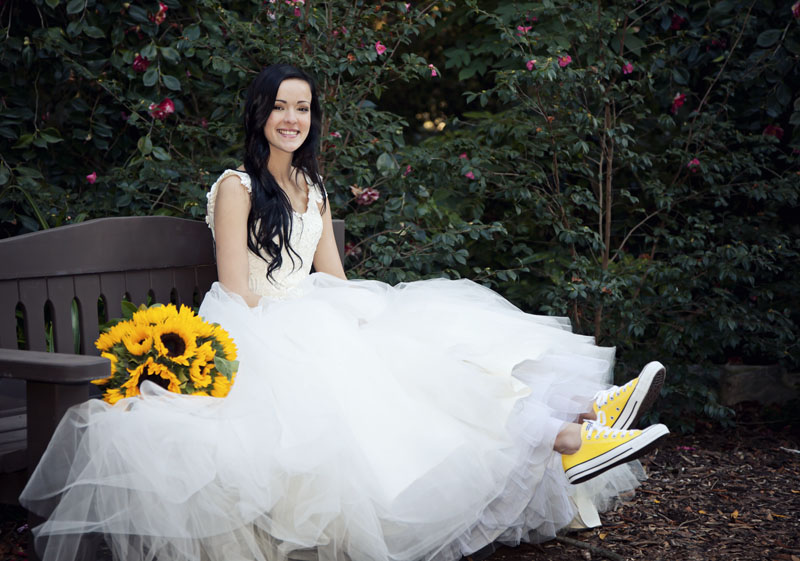 Descanso Gardens Bridal Photograph