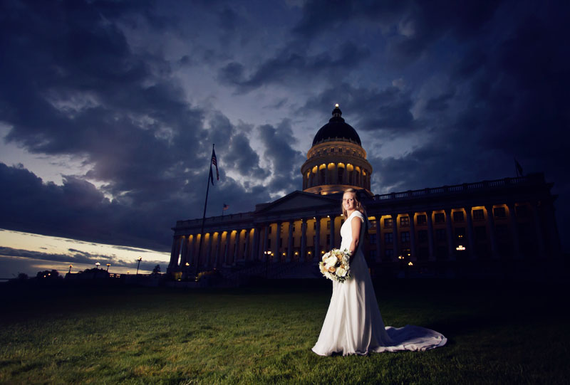 Utah Capital Bridal Photograph