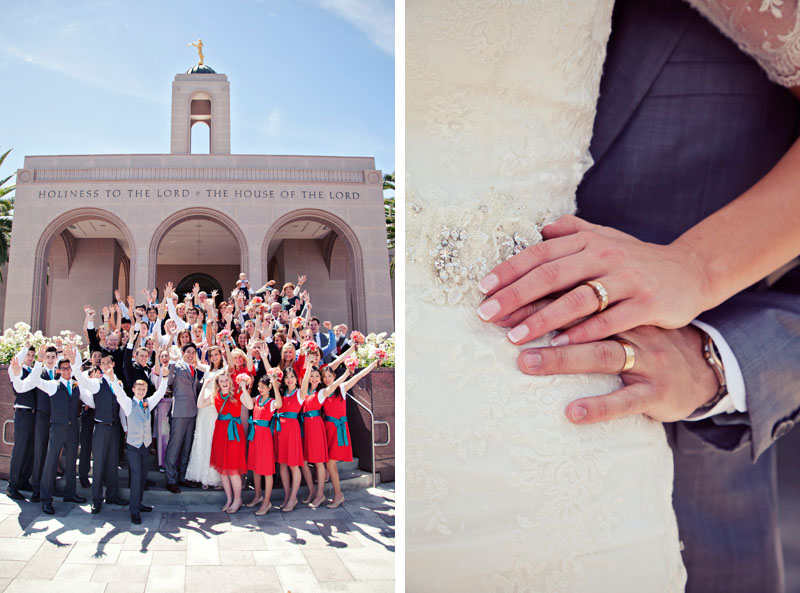 Newport Beach Temple Wedding Pictures