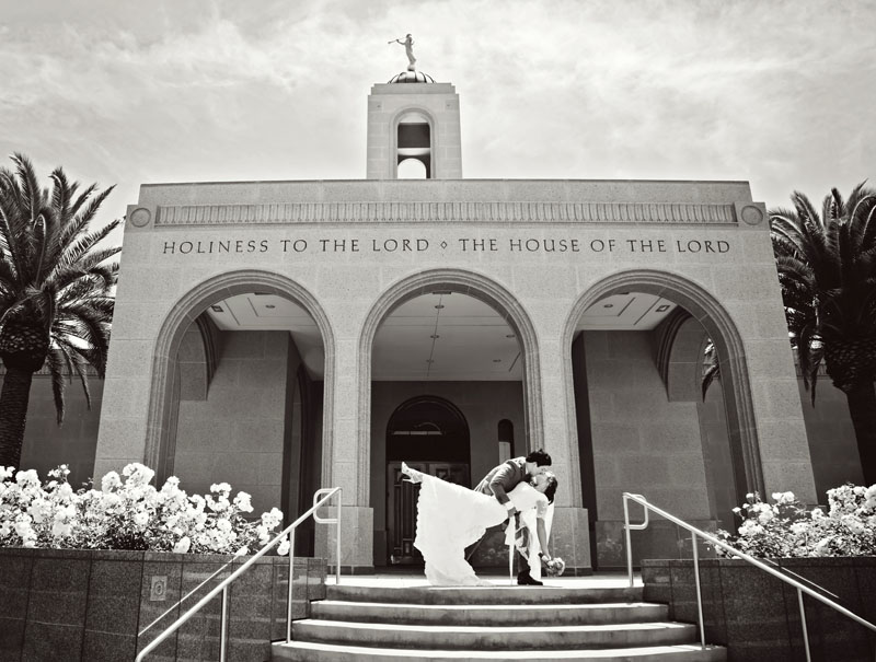Stunning Newport Beach Temple Wedding Picture